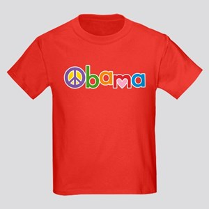Peace, Love, Obama Kids Dark T-Shirt
