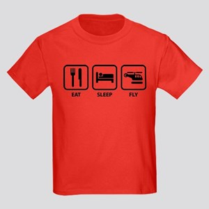 Eat Sleep Fly Kids Dark T-Shirt