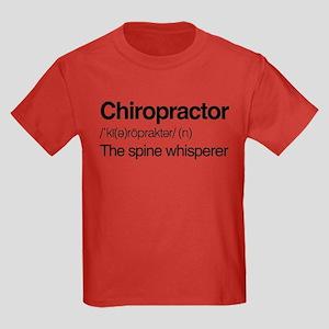Chiropractor The Spine Whisperer Kids Dark T-Shirt