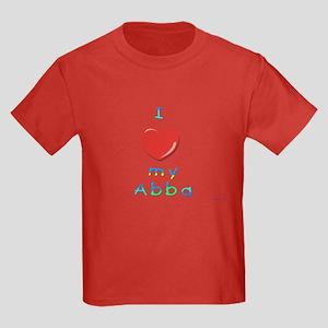 I Love My Abba Kids Dark T-Shirt