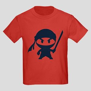 Angry ninja Kids Dark T-Shirt