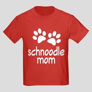 Cute Schnoodle Mom Kids Dark T-Shirt
