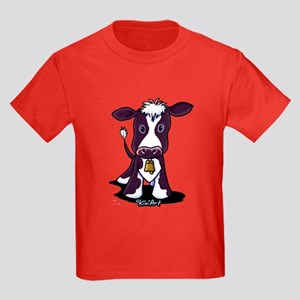 Holstein Cow Kids Dark T-Shirt
