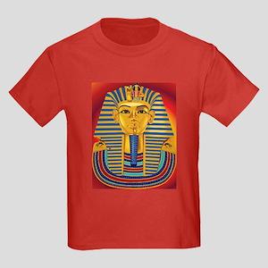 Tut Mask on Red Kids Dark T-Shirt