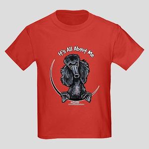Black Standard Poodle IAAM Kids Dark T-Shirt