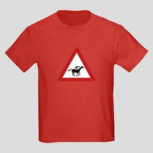 Horse Race Crossing, UAE Kids Dark T-Shirt