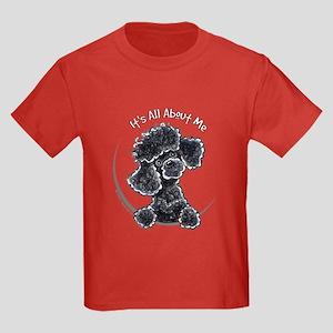 Black Poodle Lover Kids Dark T-Shirt