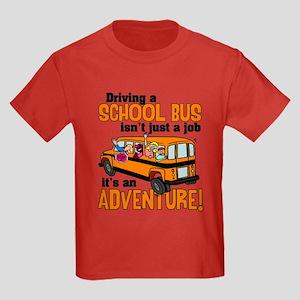 Driving a School Bus Kids Dark T-Shirt