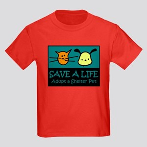 Save A Life Adopt a Pet Kids Dark T-Shirt