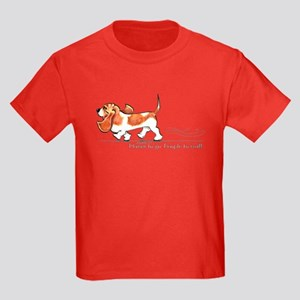 Basset Hound Places Kids Dark T-Shirt