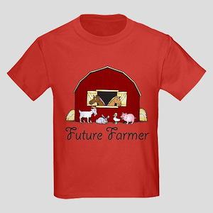Future Farmer Barnyard Kids Dark T-Shirt