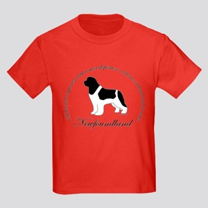 Devoted Landseer Newf Kids Dark T-Shirt