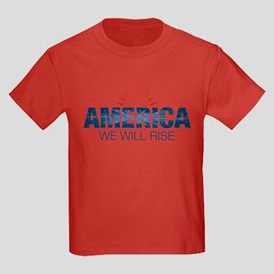 America- We Will Rise Kids Dark T-Shirt