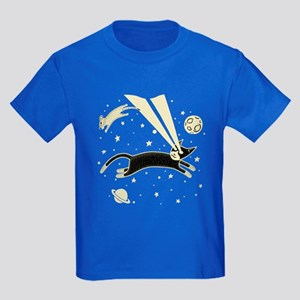 Astro Cat & Mouse Kids Dark T-Shirt
