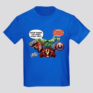 Avengers Assemble Personalized D Kids Dark T-Shirt