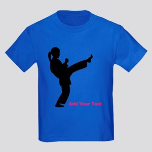 Martial Arts Personalized Kids Dark T-Shirt