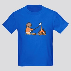 Campfire Rather be camping Kids Dark T-Shirt