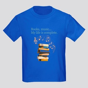 Books and music Kids Dark T-Shirt