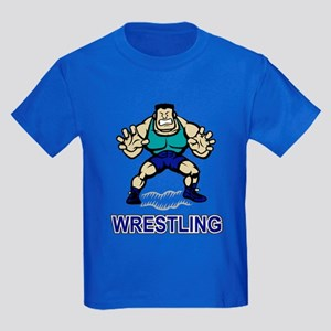 Funny Wrestling Kids Dark T-Shirt