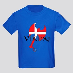Denmark Viking Axe Kids Dark T-Shirt
