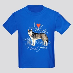 Siberian Husky Kids Dark T-Shirt