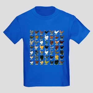 7804a4925 49 Hen Breeds Kids Dark T-Shirt