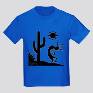 Silhouette Kokopelli Kids Dark T-Shirt