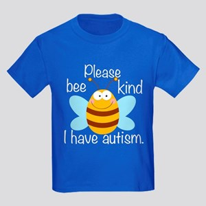 Autism Bee Pun Kids Dark T-Shirt