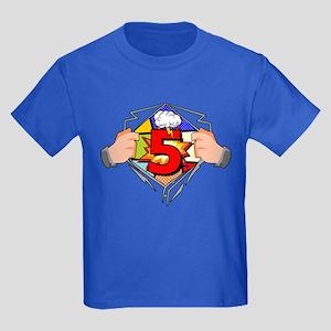 5th Birthday Comic Kids Dark T Shirt