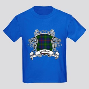 Bailey Tartan Shield Kids Dark T-Shirt