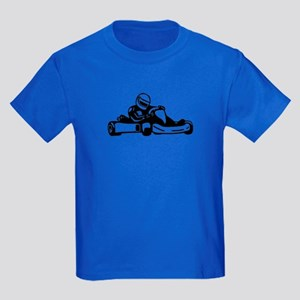 Go Kart Racing Kids Dark T-Shirt
