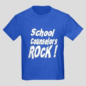 School Counselors Rock ! Kids Dark T-Shirt