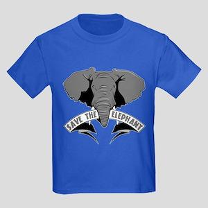 Save The Elephant Kids Dark T-Shirt