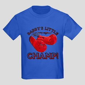 ...Daddy`s Little Champ!... Kids Dark T-Shirt