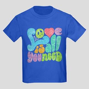 Love is All II Kids Dark T-Shirt