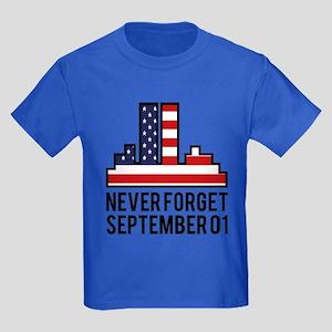 9 11 Never Forget Kids Dark T-Shirt