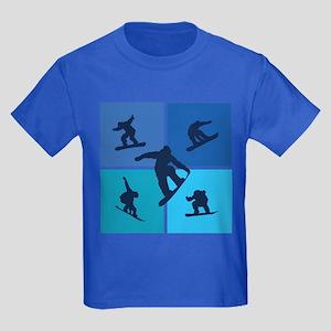 Nice various snowboarding Kids Dark T-Shirt