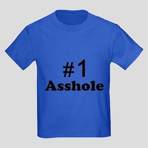 NR 1 ASSHOLE Kids Dark T-Shirt