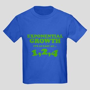 Exponential Growth Kids Dark T-Shirt