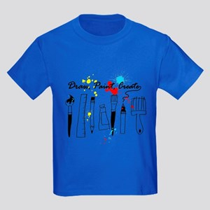 Draw Paint Create (Color) Kids Dark T-Shirt