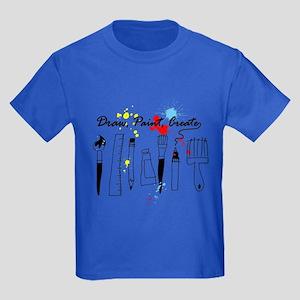 Draw Paint Create (Color) Kids Dark T-Shirt