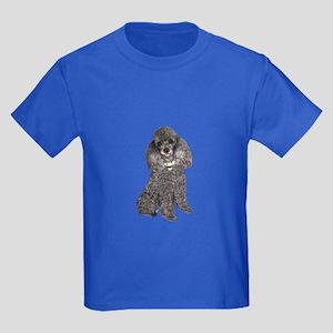 Poodle (Min-Slvr) Kids Dark T-Shirt