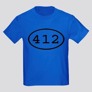 412 Oval Kids Dark T-Shirt