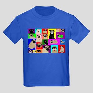 Lots o Pugs Kids Dark T-Shirt