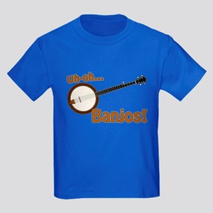 Uh-oh Banjos! Kids Dark T-Shirt