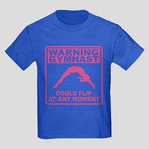 Warning Gymnast Could Flip Kids Dark T-Shirt