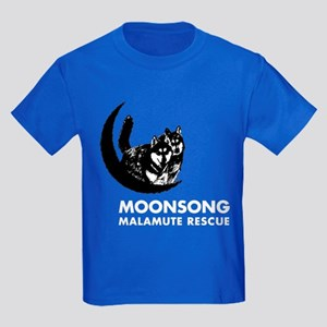 Moonsong Malamute Rescue Kids Dark T-Shirt