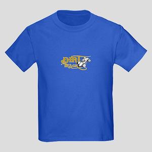 Dirt Track Sprint Car Kids Dark T-Shirt