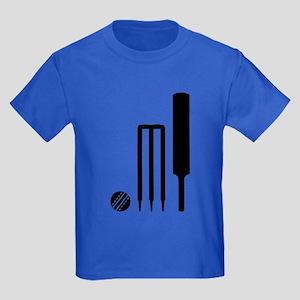 Cricket ball bat stumps Kids Dark T-Shirt