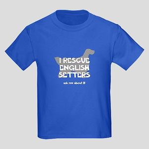 I RESCUE English Setters Kids Dark T-Shirt